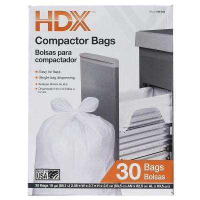18 Gal. Compactor White Trash Bags (30 Count)