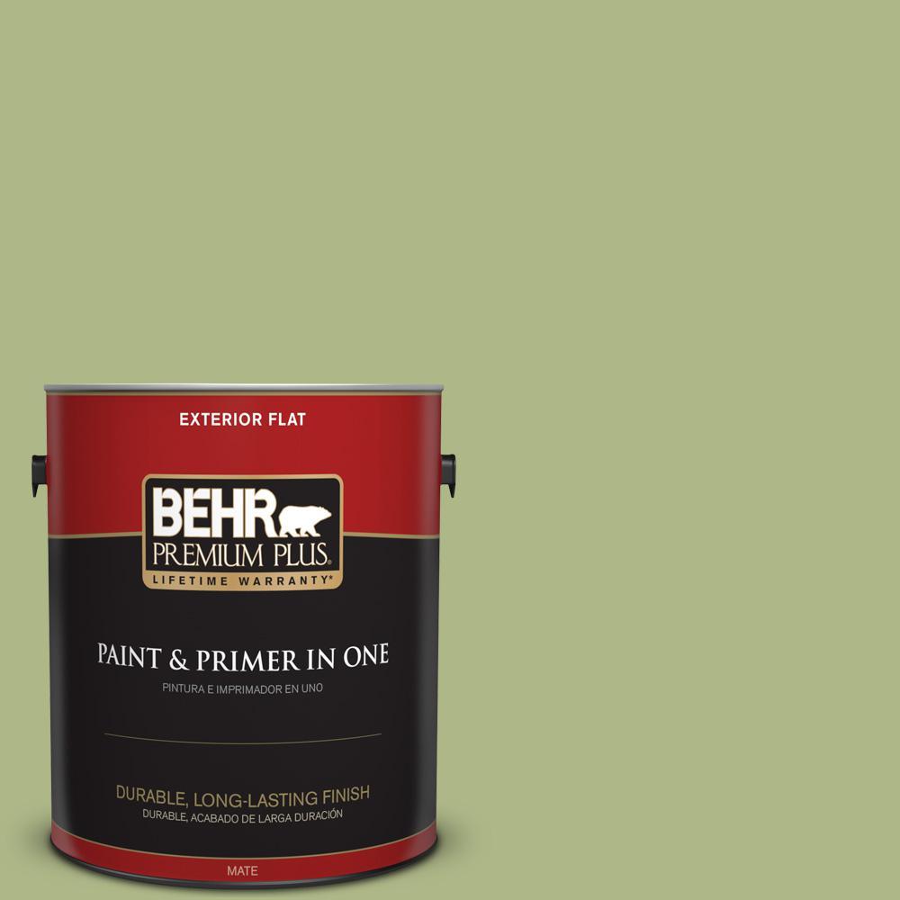 1 gal. #PPU10-07 Lima Green Flat Exterior Paint