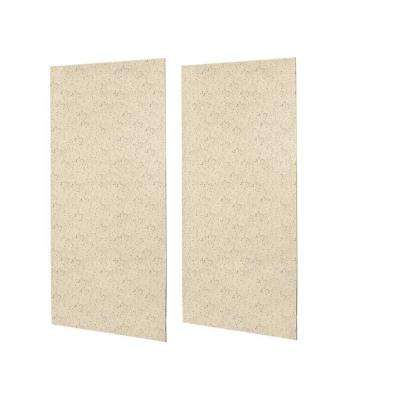 1/4 in. x 48 in. x 96 in. 2-Piece Easy Up Adhesive Shower Wall Panel in Tahiti Desert