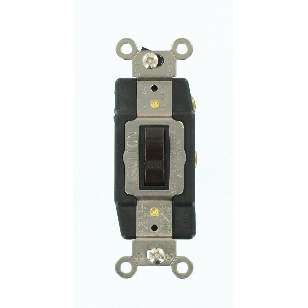 Leviton 30 Amp Industrial Grade Heavy Duty Single-Pole Double-Throw ...