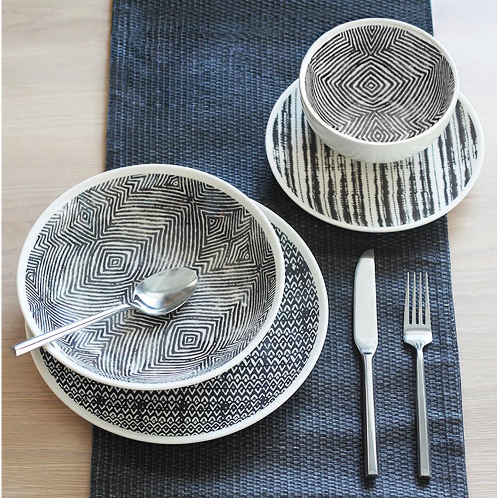 Dalton 16-Piece Grey Dinnerware Set