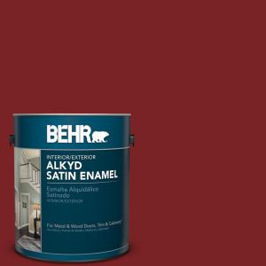 Sc 112 Barn Red Satin Enamel Alkyd Interior Exterior Paint 793001 The Home Depot