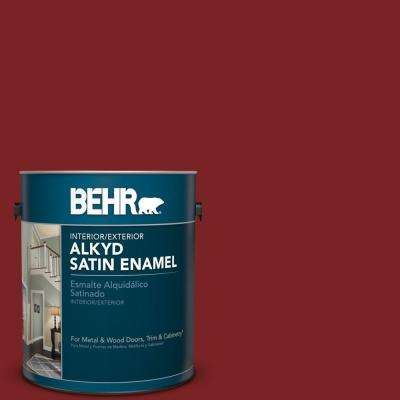 1 gal. #SC-112 Barn Red Satin Enamel Alkyd Interior/Exterior Paint