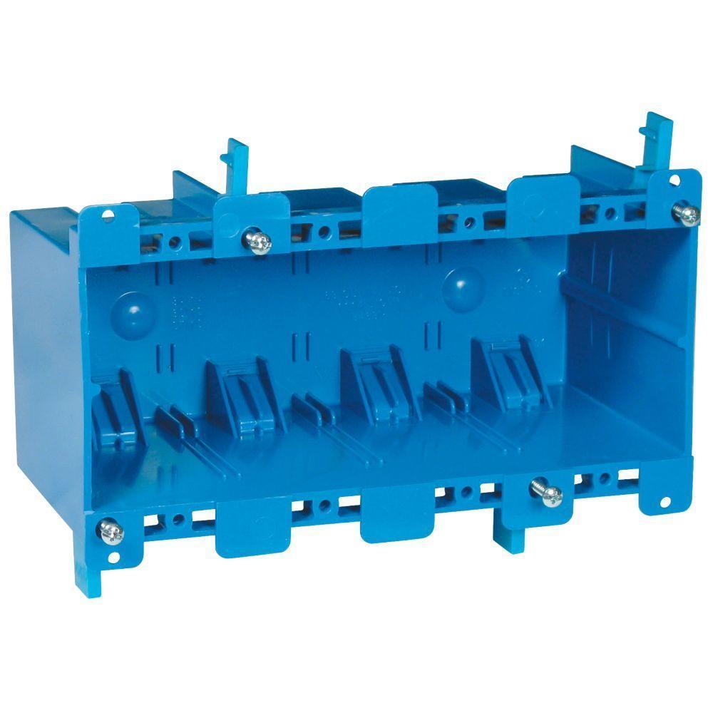 4-Gang 71 cu. in. Old Work PVC Electrical Box