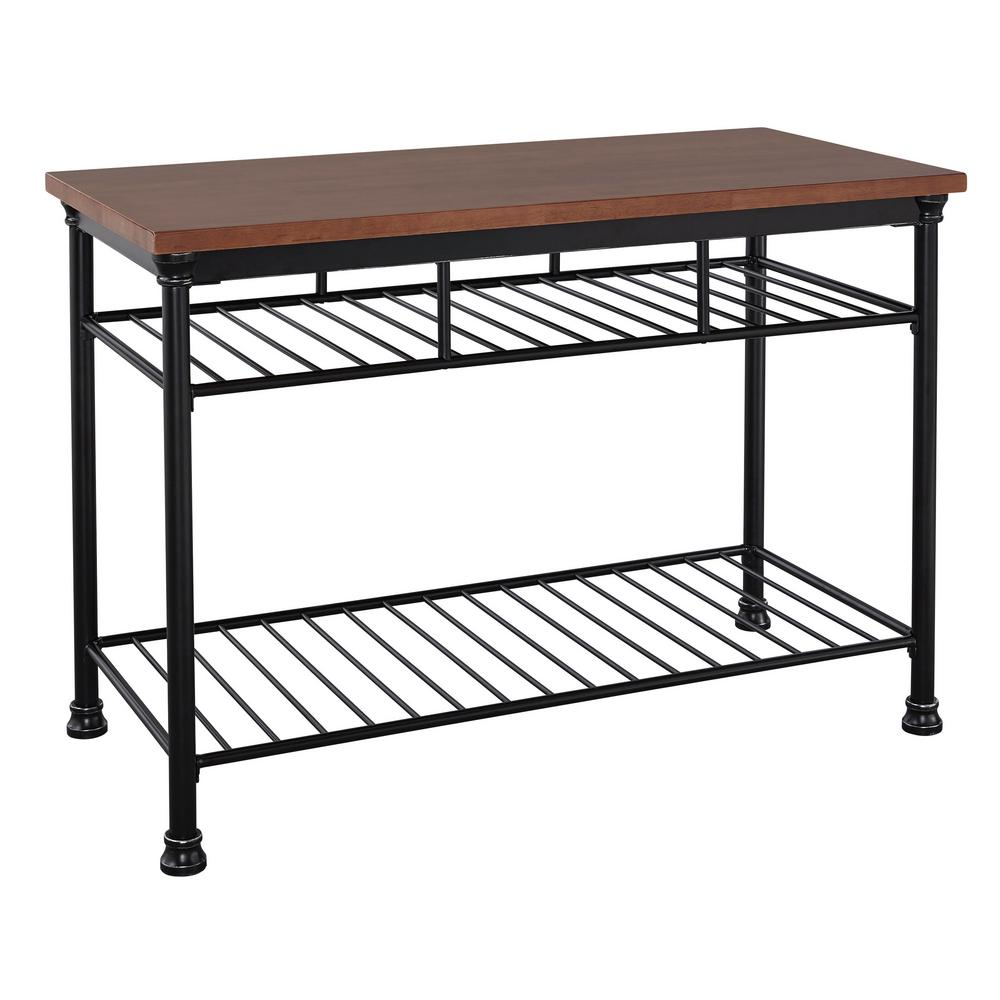 home styles baton rouge black kitchen utility table 5059 9411