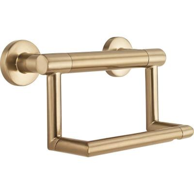 Decor Assist Contemporary Toilet Paper Holder with Assist Bar in Champagne Bronze