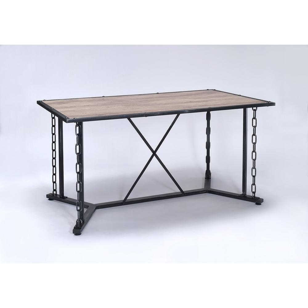 Jodie Rustic Oak Water Resistant Dining Table