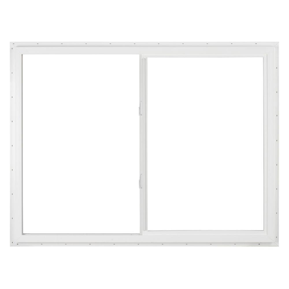 SIMONTON 36 in. x 48 in. DaylightMax Left-Hand Sliding Vinyl Window - White
