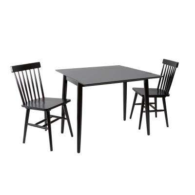 Connor Black Drop Leaf Dining Table
