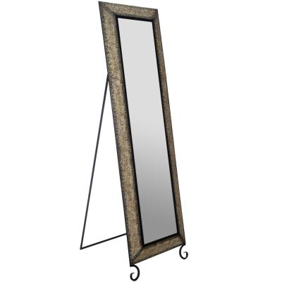 Embossted Metall Full Length Rectangular Bronze Floor Mirror