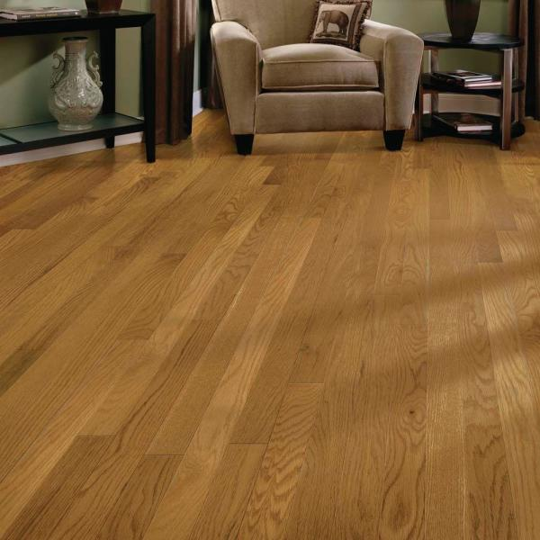 Bruce Laurel Butterscotch Oak 3 4 In Thick X 2 1 4 In Wide X Varying Length Solid Hardwood Flooring 20 Sq Ft Case Ahs626 The Home Depot