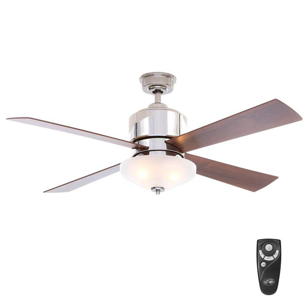Hampton Bay Garrison 52 In Indoor Gunmetal Ceiling Fan With Light Kit And Remote Control Ac438