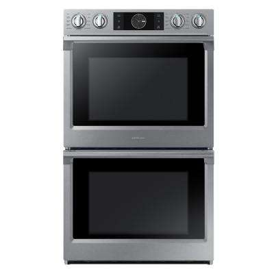 Flex Duo 30 in Double Electric Wall Oven Self-Cleaning with True Convection with Steam Cooking in Stainless