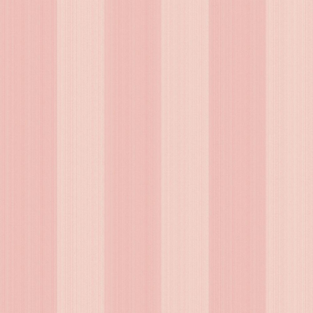 The Wallpaper Company 56 sq. ft. Pink Pastel Stria Stripe Wallpaper-DISCONTINUED