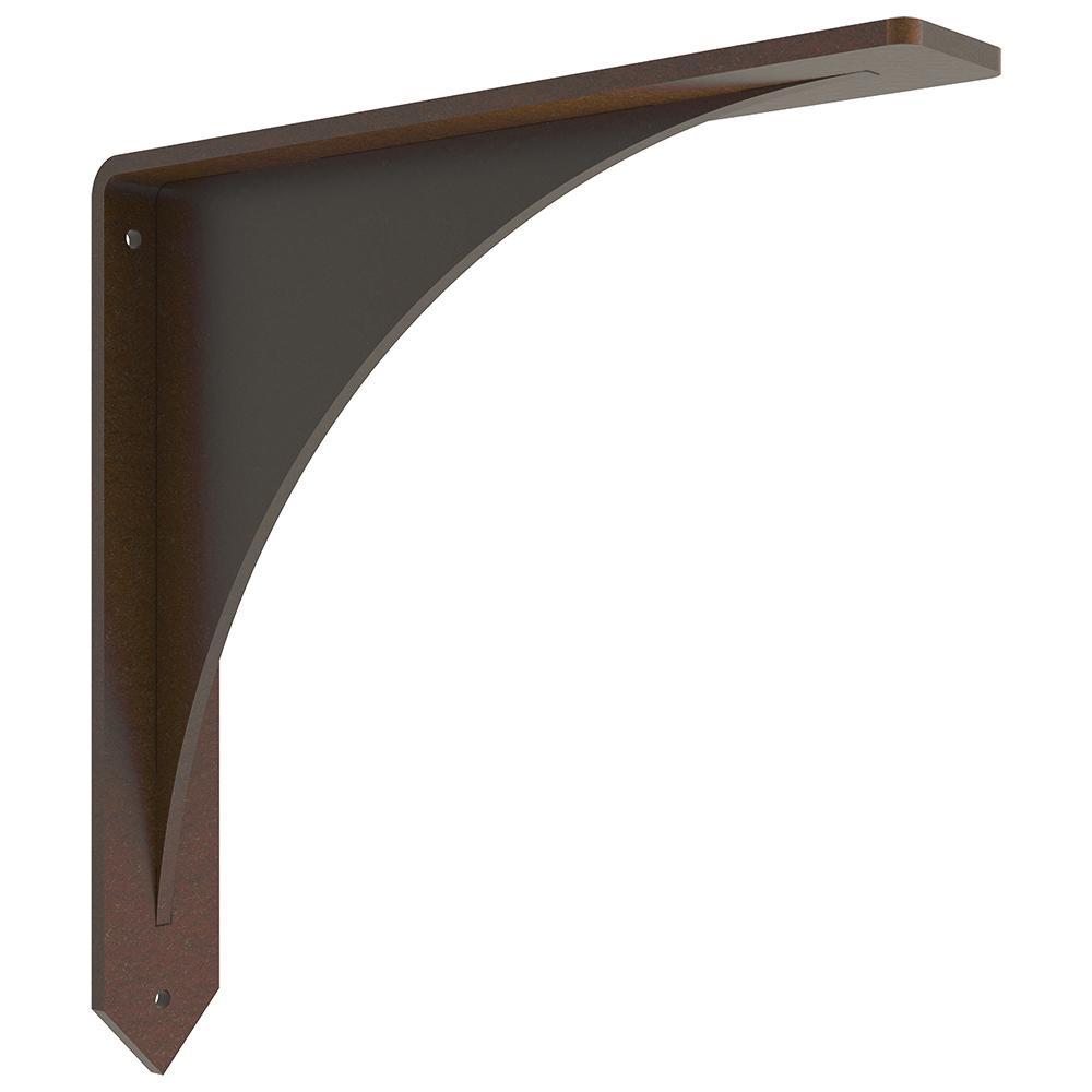 Arrowwood 12 in. x 12 in. Bronze Low Profile Countertop Bracket