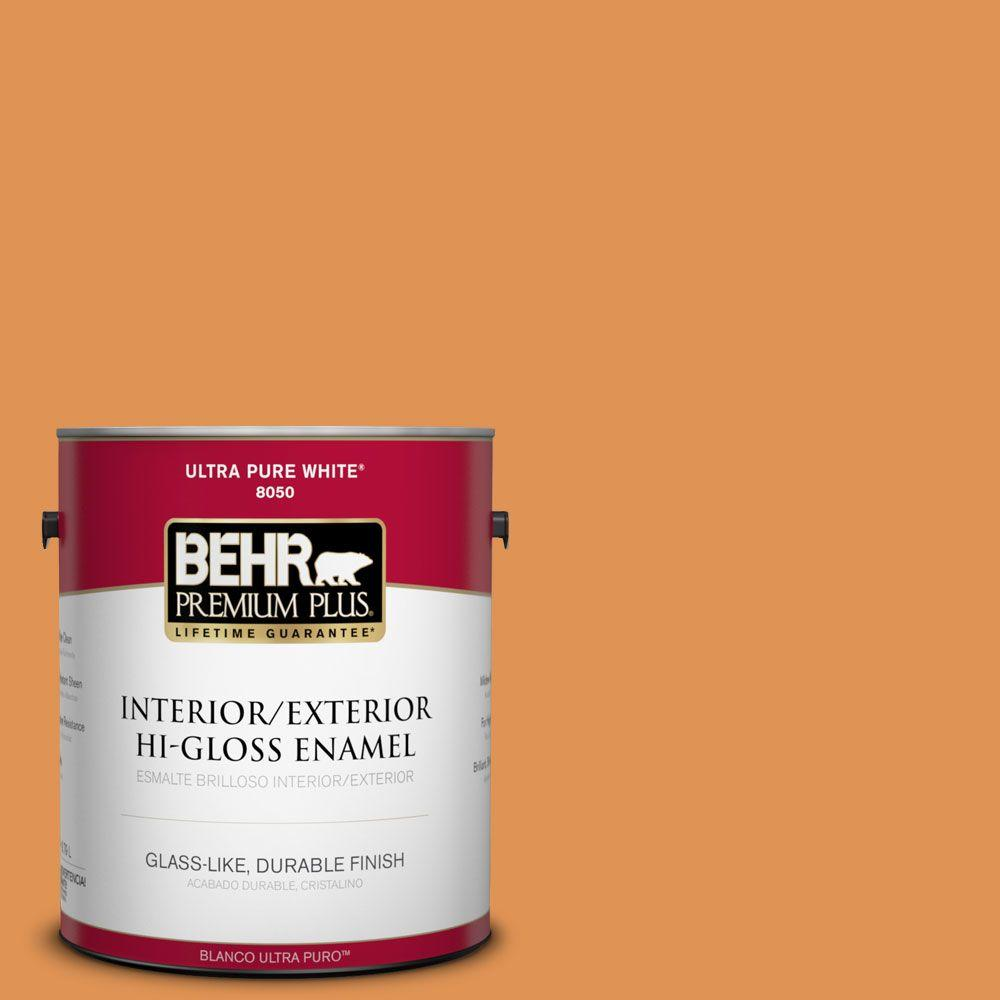1-gal. #270D-6 Pumpkin Toast Hi-Gloss Enamel Interior/Exterior Paint