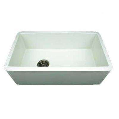 Duet Reversible Farmhaus Apron Front Fireclay 30 in. Single Bowl Kitchen Sink in White