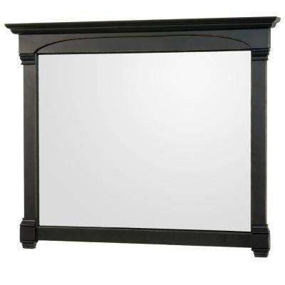 Andover 50 in. W x 41.25 in. H Framed Wall Mirror in Black