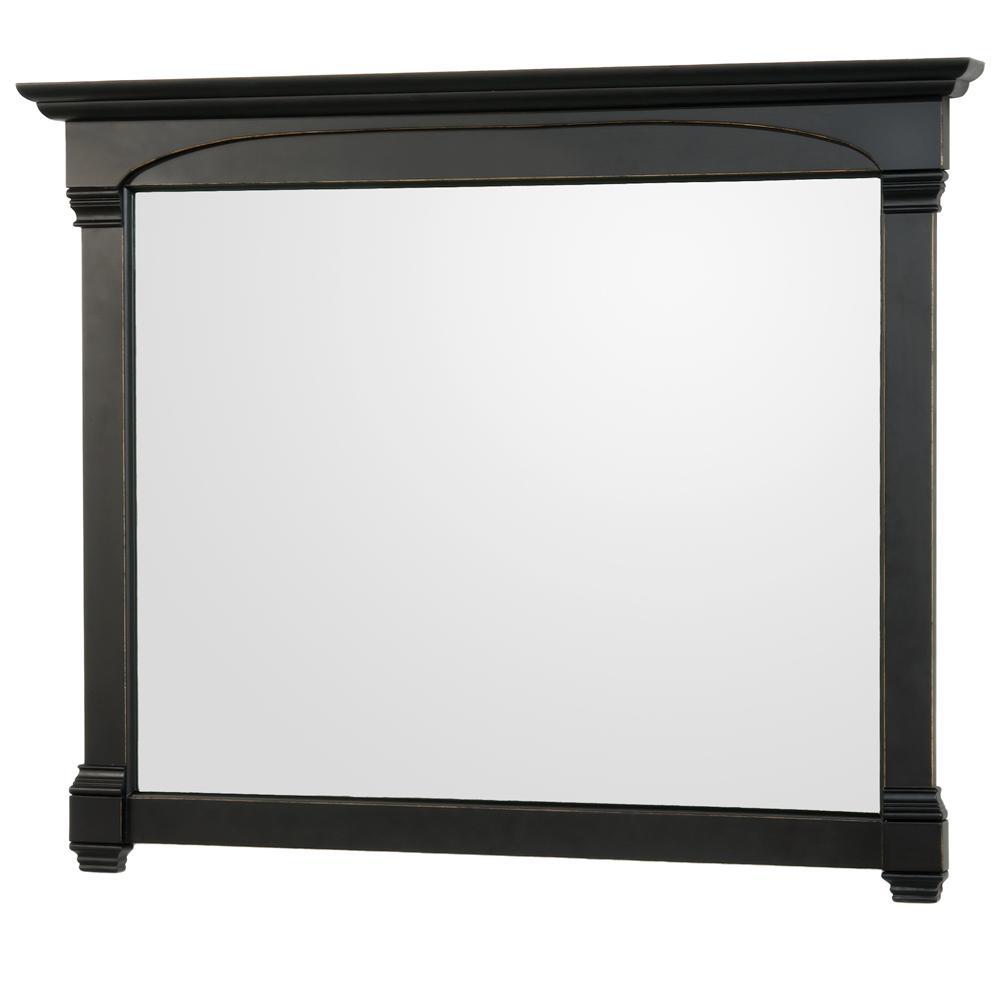 Andover 50 in. W x 41 in. H Framed Rectangular Bathroom Vanity Mirror in Black