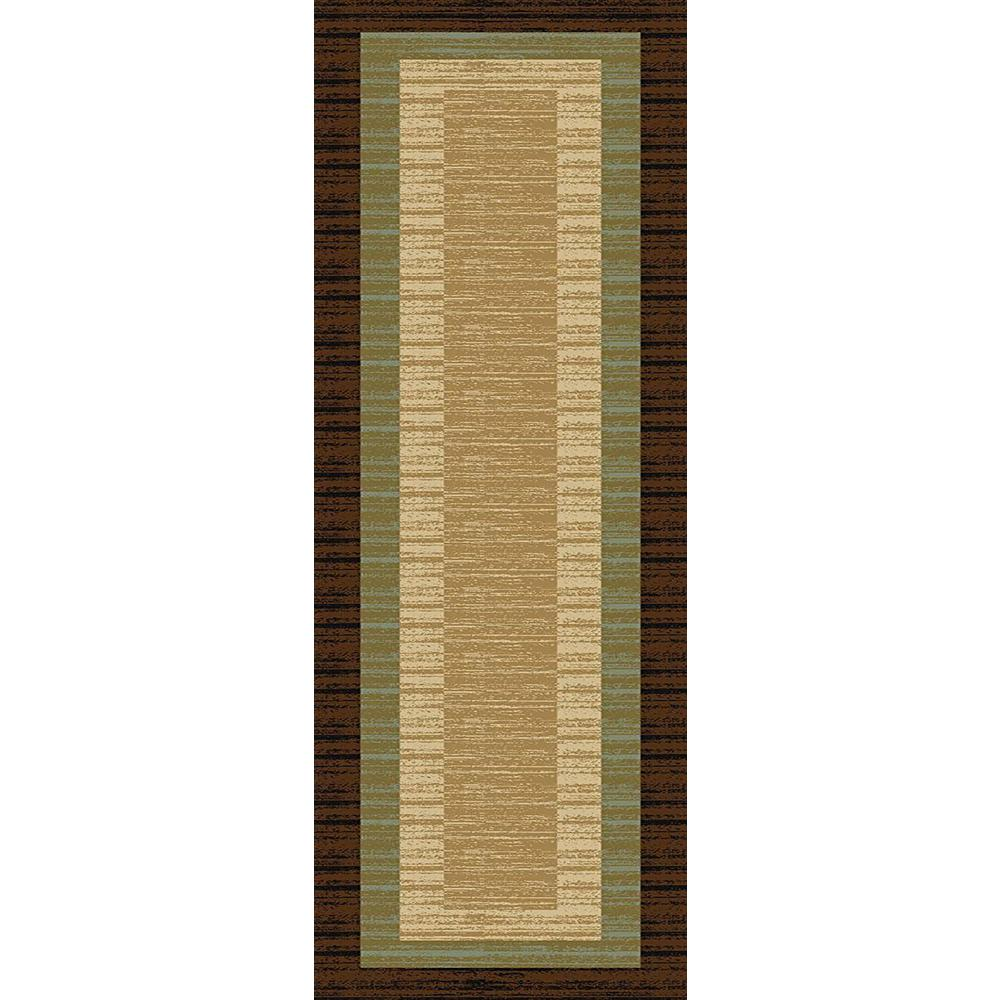 MAXY HOME Hamam Collection Brown 3 ft. x 10 ft. Runner Rug