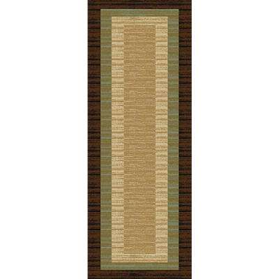 Hamam Collection Brown 3 ft. x 10 ft. Runner Rug