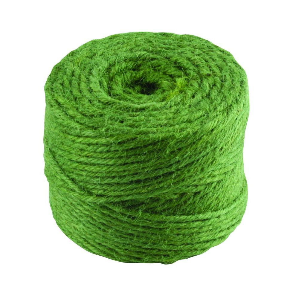 Everbilt #30 in. x 200 ft. Green Twisted Jute Twine