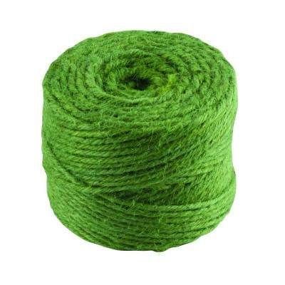 #30 in. x 200 ft. Green Twisted Jute Twine