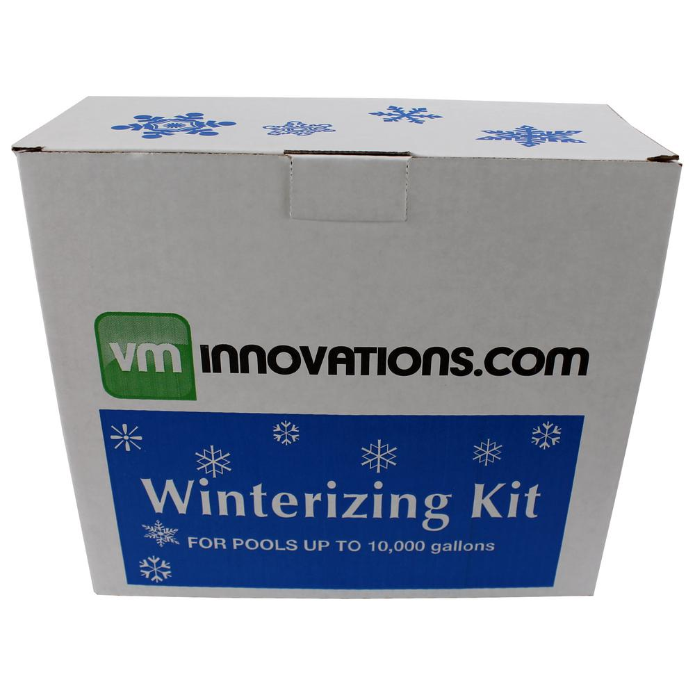 Swimming Pool 10,000 Gal. Winterizing Chemical Kit and 4 ft. Cover Pillow  (2-Pack)
