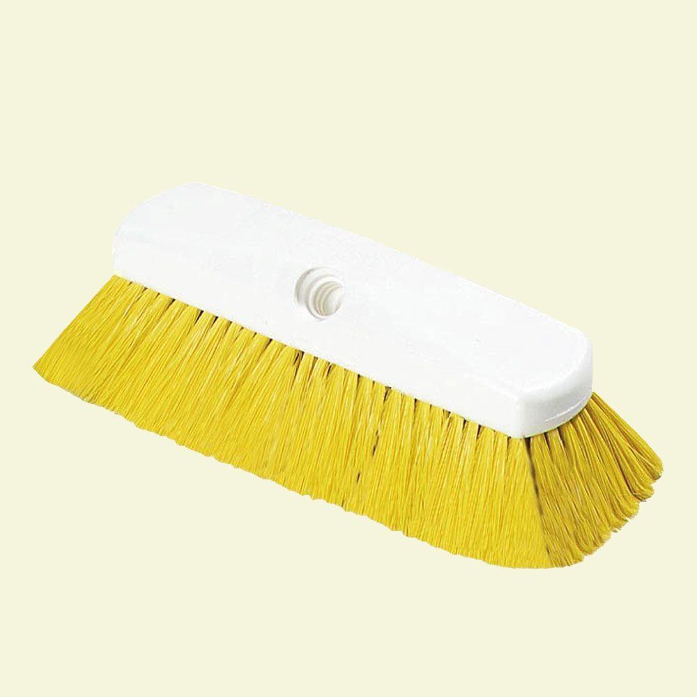 10 in. Flo-Thru Nylon Yellow Wall Brush (Case of 12)