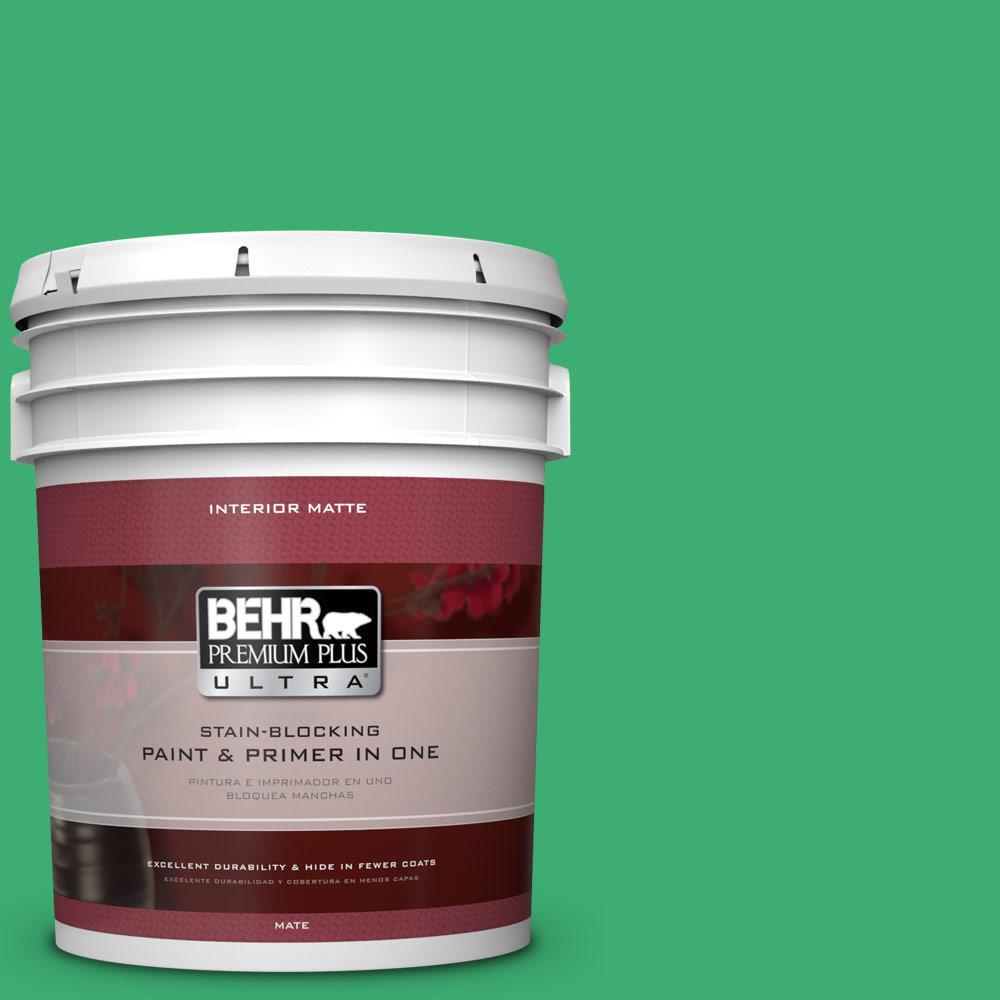 5 gal. #460B-5 Fresh Greens Flat/Matte Interior Paint