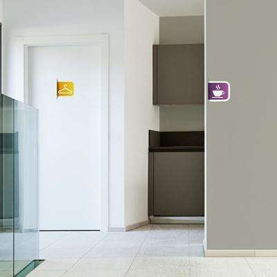 4 in. x 5 in. Multi Colorful Signs General Wall Transfer Decals (4-Pack)