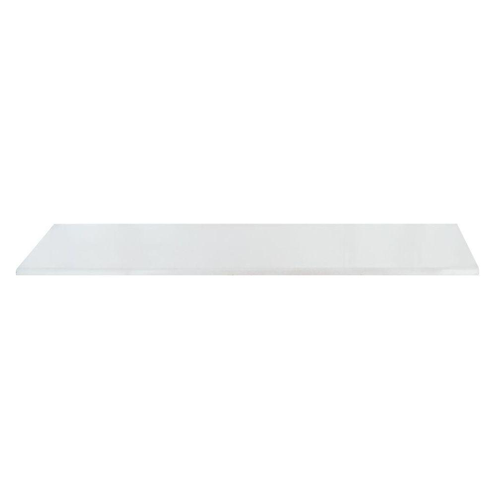MS International Parisian White 4 in. x 20 in. Porcelain Bullnose Wall Tile (10 Pieces / case)