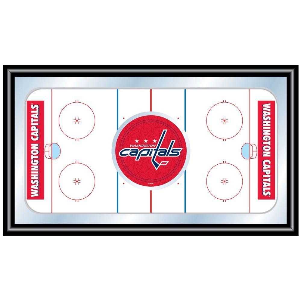 null NHL Washington Capitals 15 in. x 26 in. Black Wood Framed Mirror
