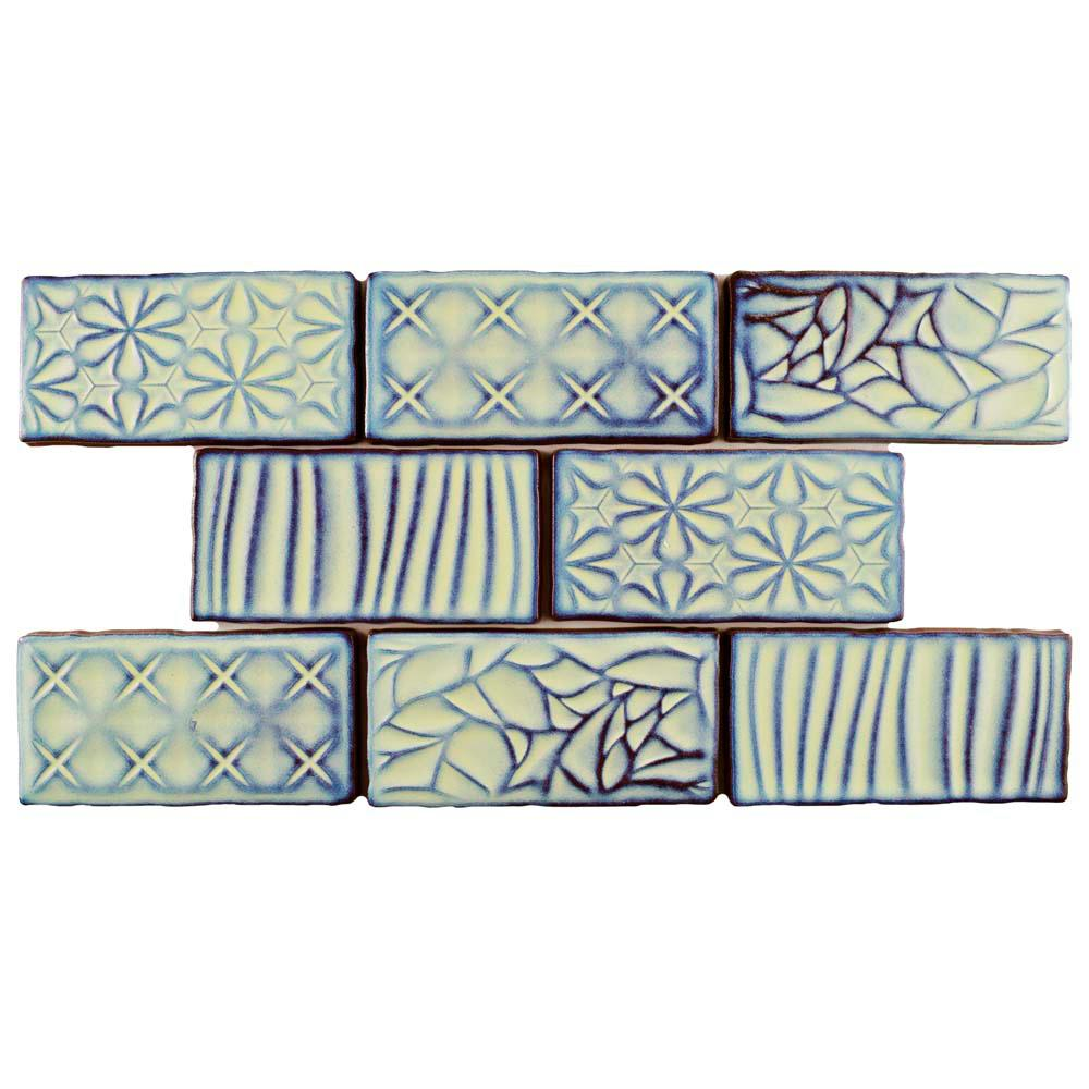 Antic Sensations Agua Marina 3 in. x 6 in. Ceramic Wall