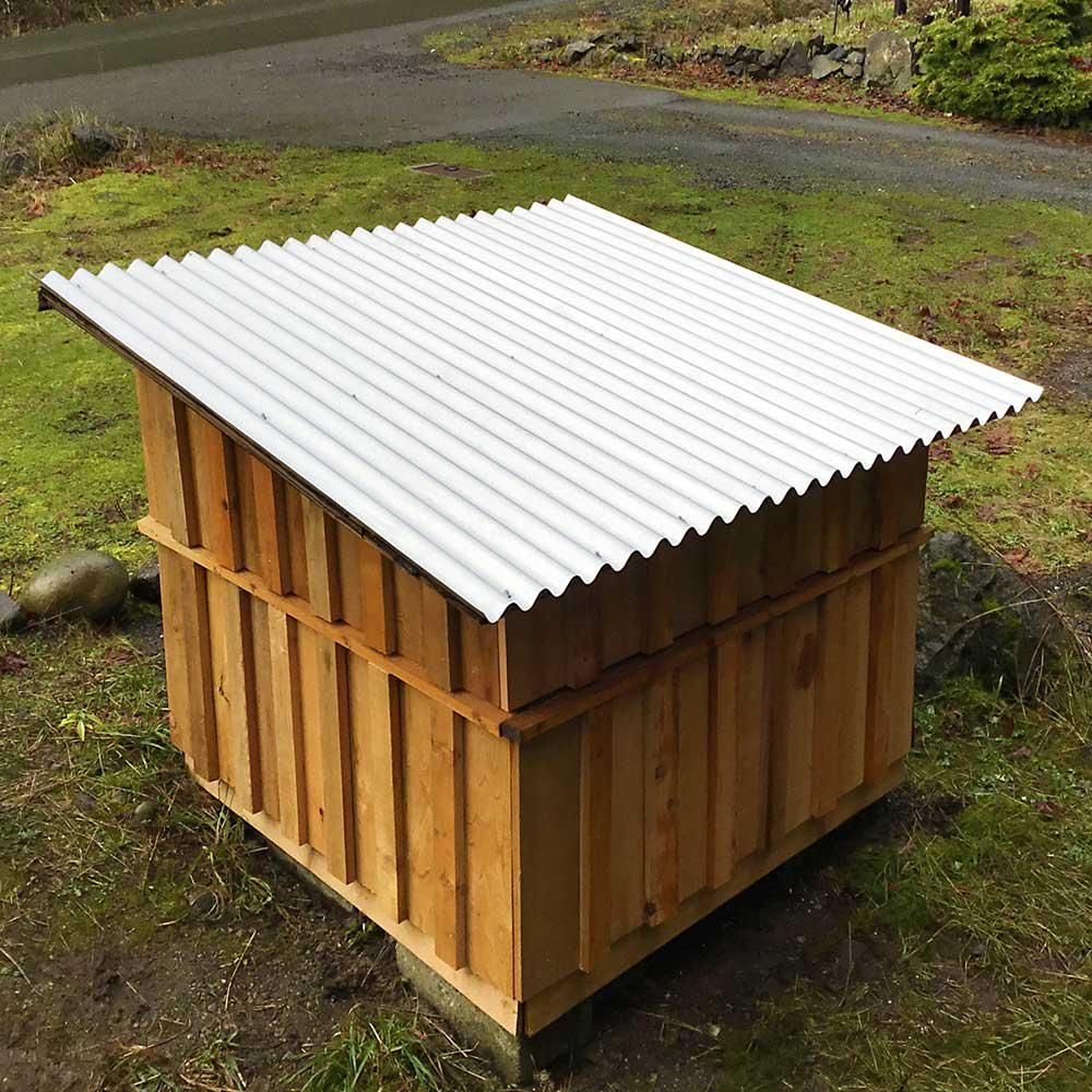 Gibraltar Building Products 8 Ft Corrugated Galvalume 26 Gauge Roof Panel 23988 The Home Depot