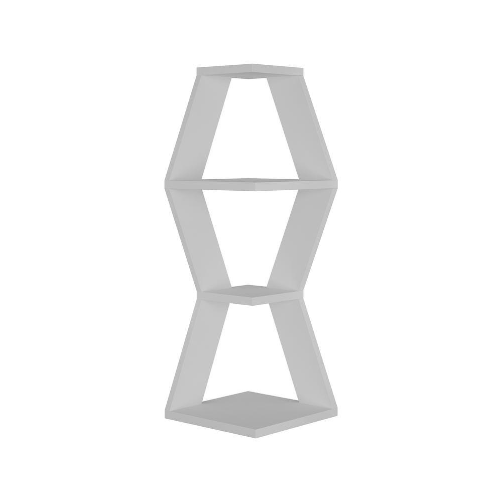 Ada Home Decor Caldwell White Modern Wall Shelf DCRW2381