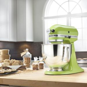 Internet #100497591. KitchenAid Artisan 5 Qt. Green Apple Stand Mixer