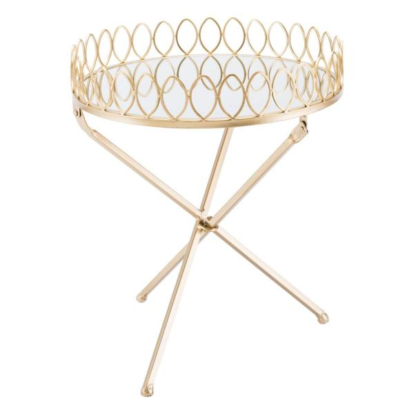 ZUO Gold Tray Table