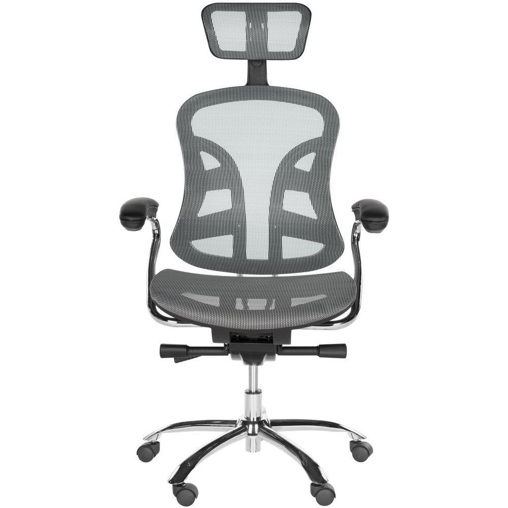 Jarlan Grey Nylon Swivel Office Chair