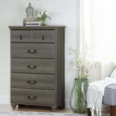 Noble 5-Drawer Gray Maple Chest
