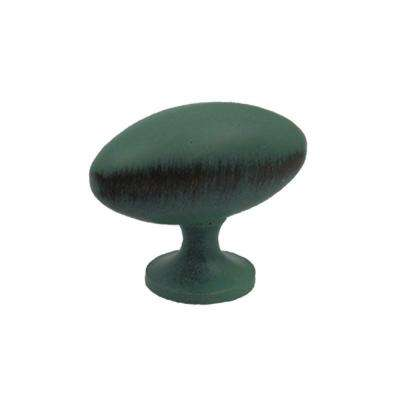 1-1/2 in. Antique Verde Oblong Shaped Knob