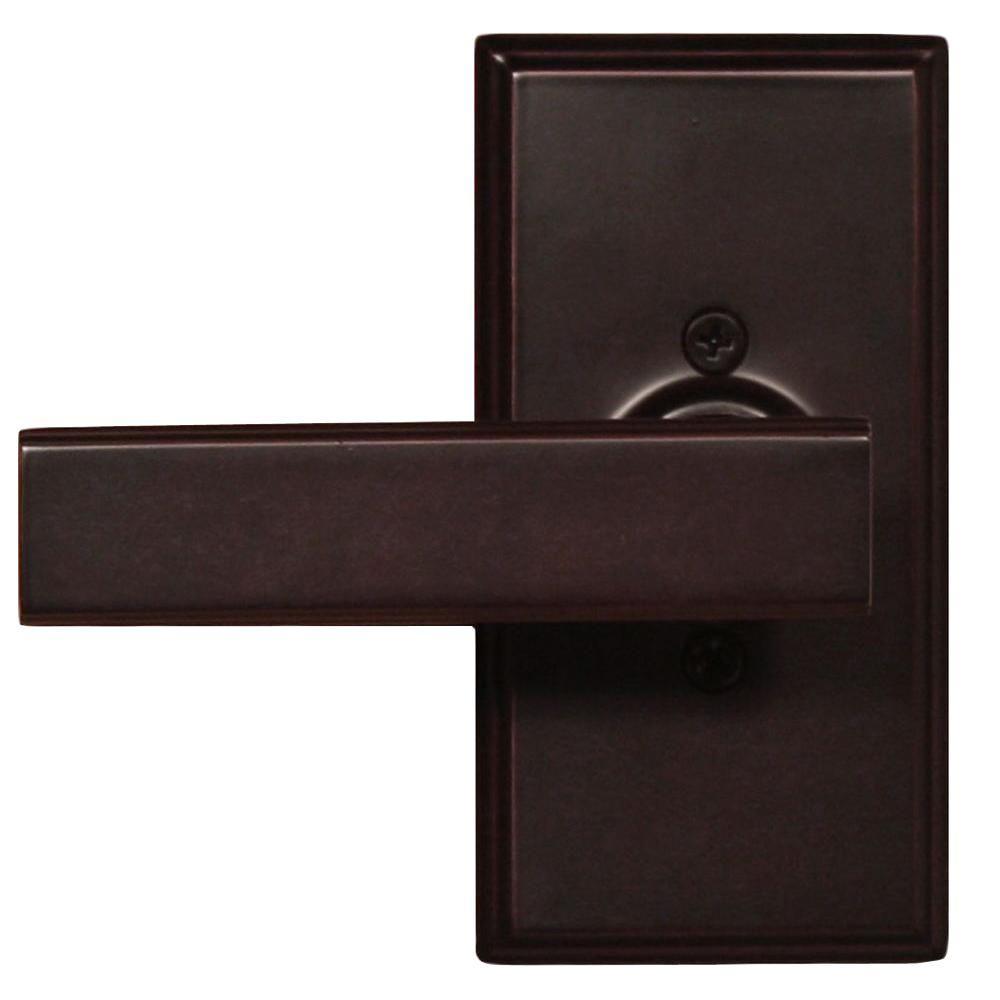 Elegance Oil-Rubbed Bronze Woodward Half-Dummy Utica Door Lever