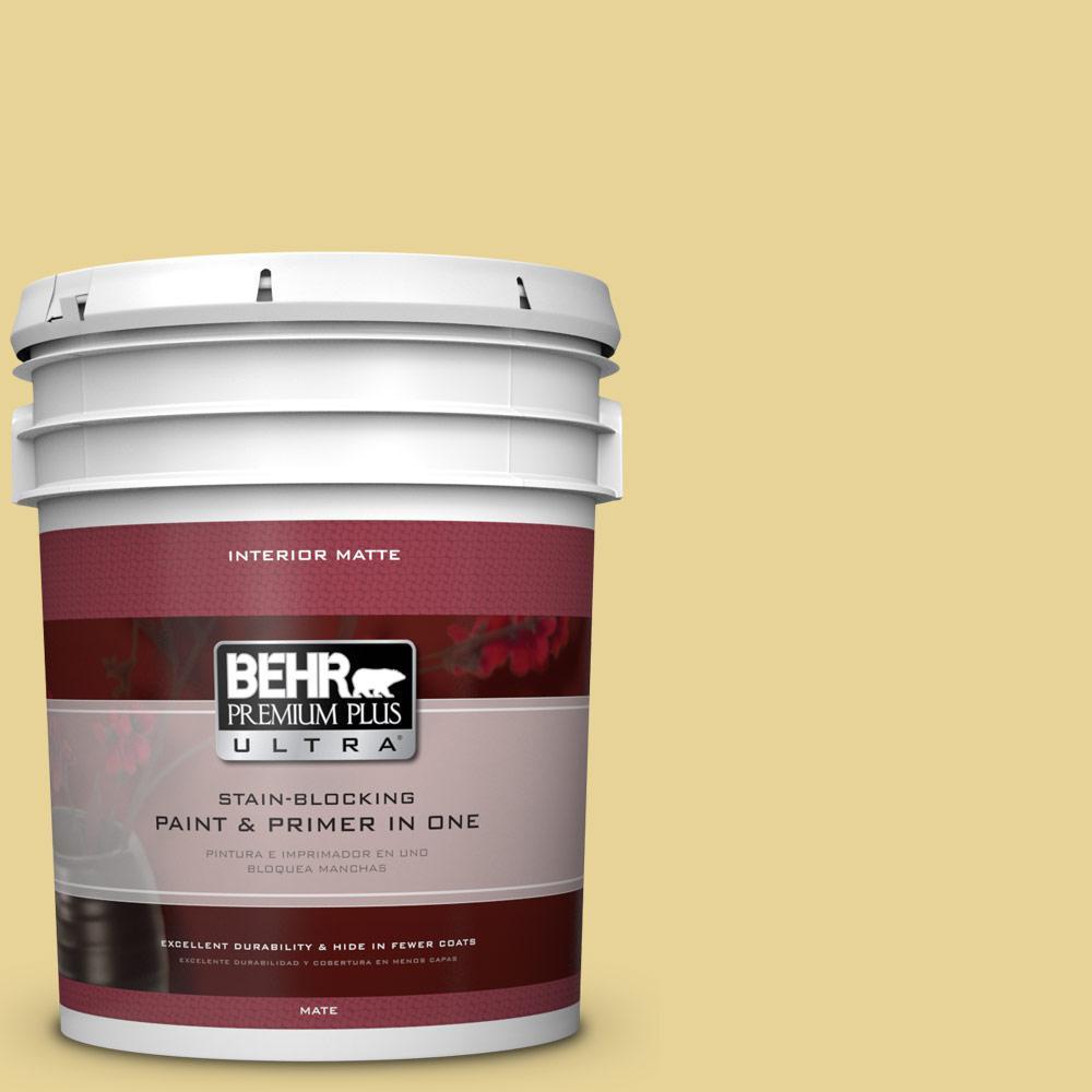 5 gal. #390D-4 Honey Beige Flat/Matte Interior Paint