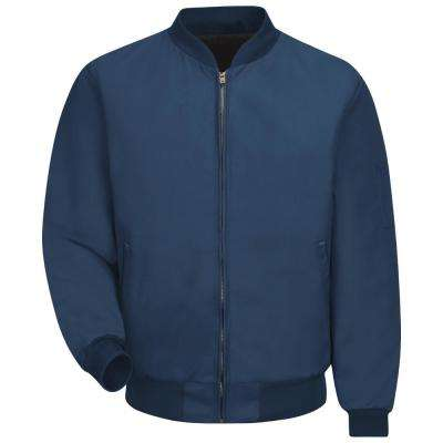 Men's Medium (Tall) Navy Solid Team Jacket