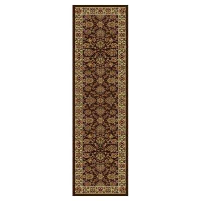 Imperial Traditions Mocha/Ivory 2 ft. x 8 ft. Runner Rug