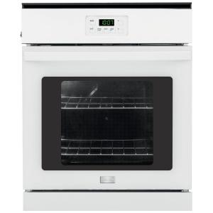 Frigidaire 24 inch Single Electric Wall Oven in White by Frigidaire