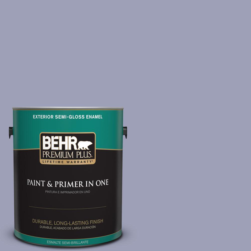 1-gal. #630F-4 Wild Thistle Semi-Gloss Enamel Exterior Paint