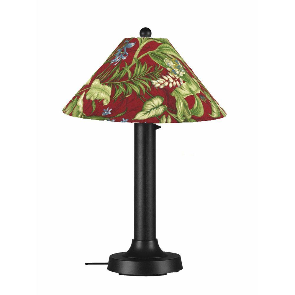 Patio Living Concepts Catalina 34 in. Black Outdoor Table Lamp with Lacquer Shade