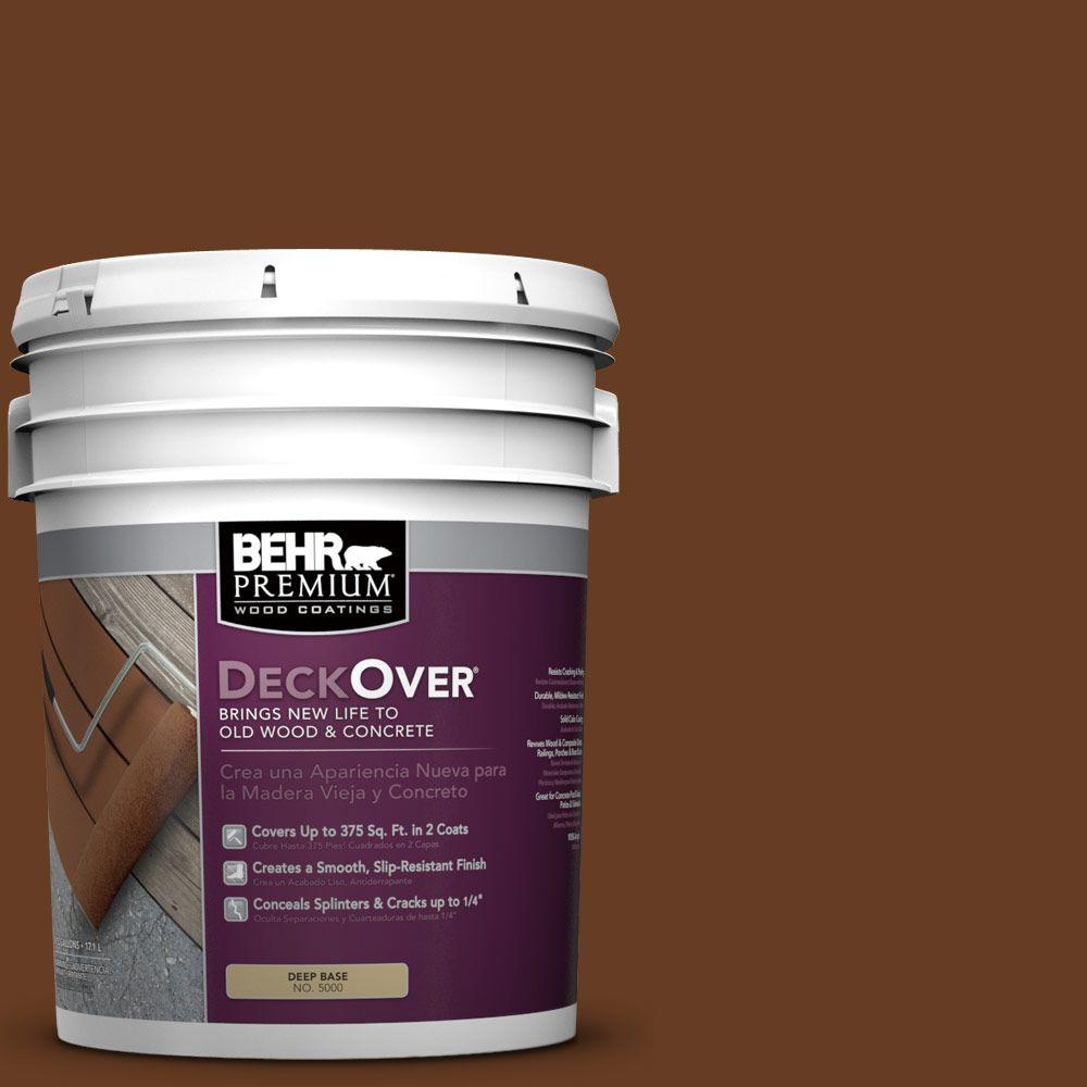 5 gal. #SC-110 Chestnut Solid Color Exterior Wood and Concrete Coating