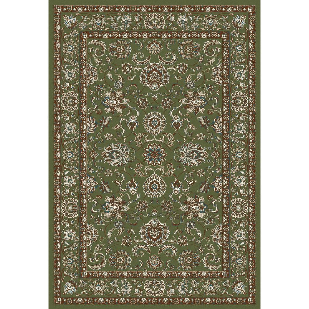 Art Carpet Arabella Traditional Border Green 2 Ft X 4 Area Rug